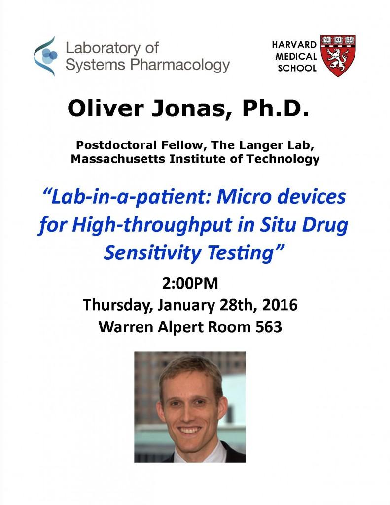 Oliver Jonas Seminar