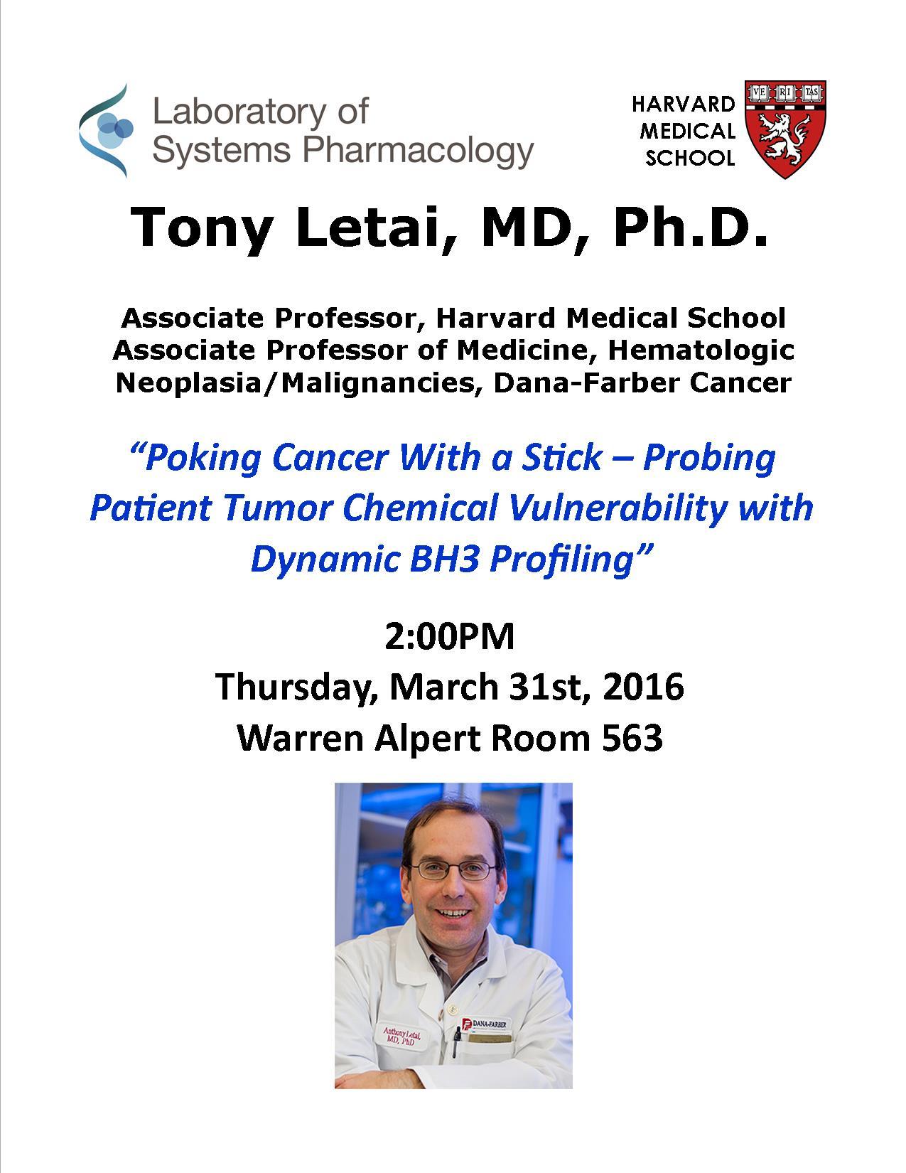 Tony Letai Seminar